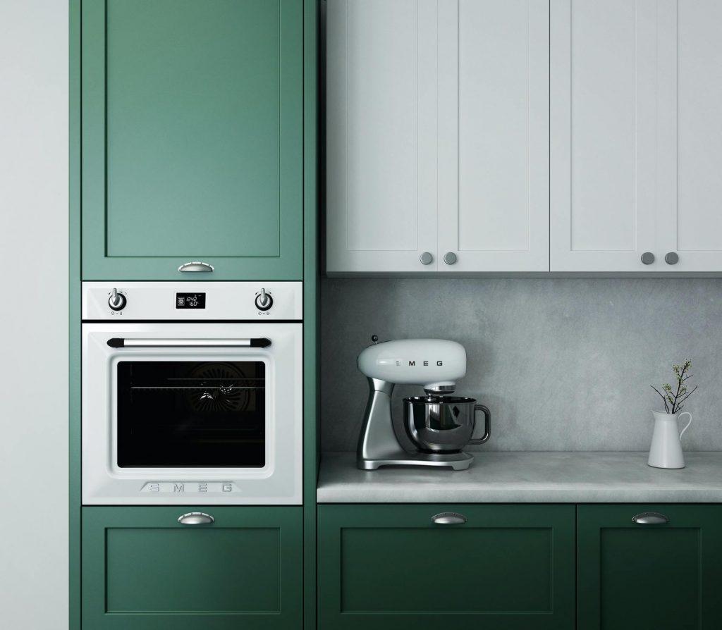 design bucatarie colorata verde pastel